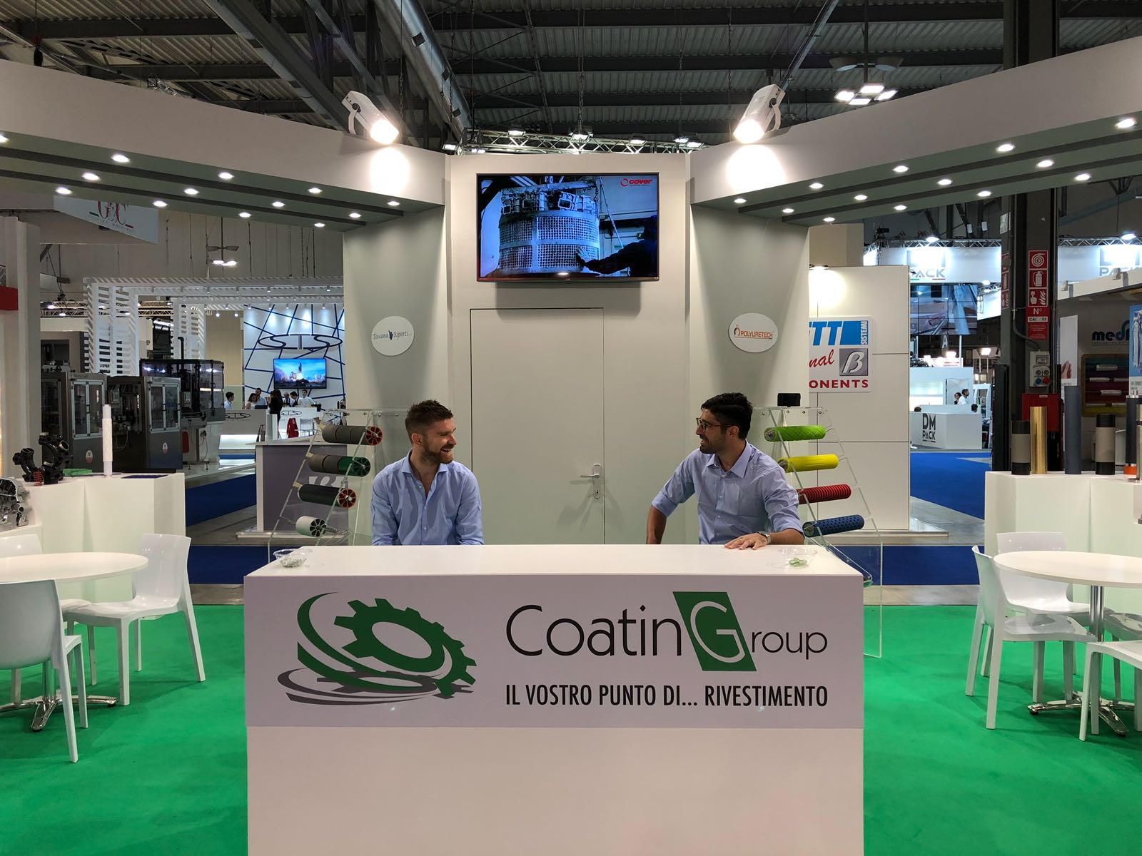 welcome desk stand coatingroup